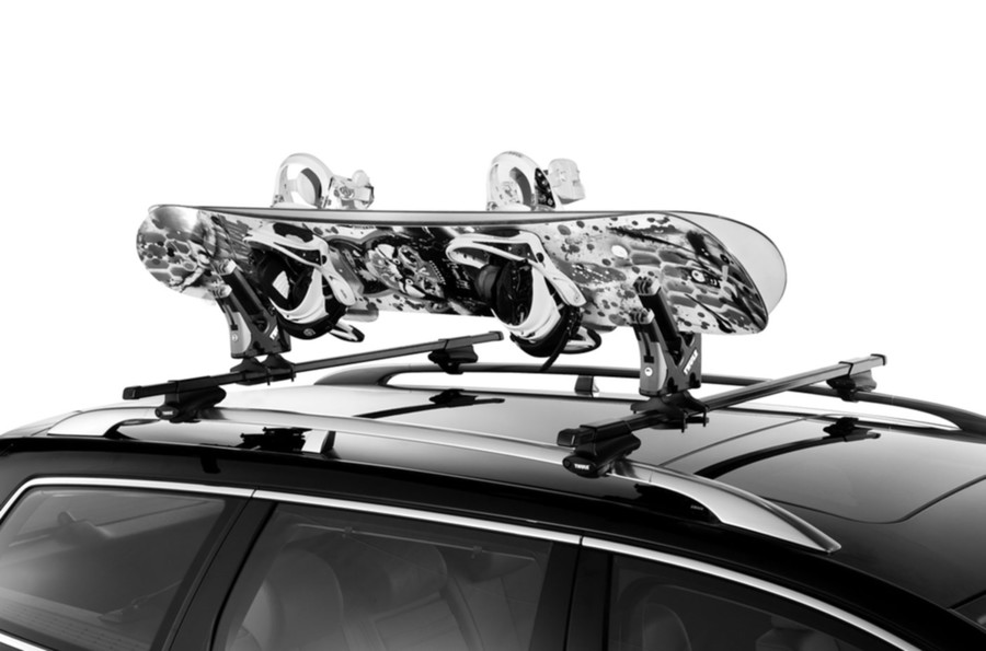 Ski Rack For Car >> Thule Universal Snowboard Carrier | 2-Board Roof Rack - StoreYourBoard.com